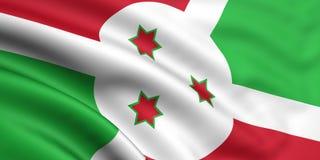 burundi flagę Zdjęcia Royalty Free