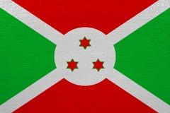 Burundi flag on canvas. Patriotic background. National flag of Burundi vector illustration