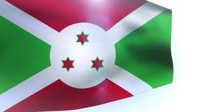 Burundi flag waving wave. Video stock video footage
