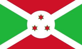 burundi flagga Arkivfoto