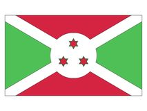 burundi flagga vektor illustrationer