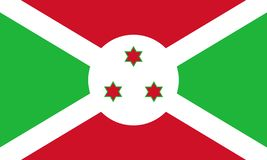 Burundi flagga stock illustrationer