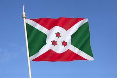 burundi flagga royaltyfri fotografi