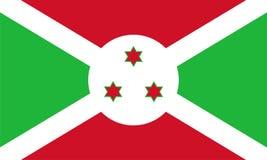 Burundi-Flagge stock abbildung