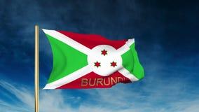 Burundi-Flaggenschieberart mit Titel Herein wellenartig bewegen lizenzfreie abbildung