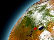 Burundi från omlopp av modellen Earth Royaltyfria Foton