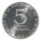 Burundi Franc coin stock photography