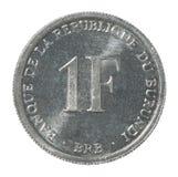 Burundi franka moneta Obraz Stock