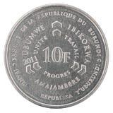 Burundi franka moneta Fotografia Royalty Free