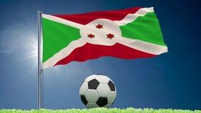Burundi futbolu i trzepotać chorągwiane rolki
