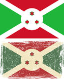 Burundi grunge flag. Vector illustration Stock Photography