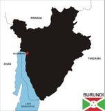 Burundi map Royalty Free Stock Photo