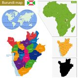 Burundi map Stock Images