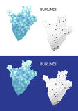 Burundi map in geometric polygonal style. Abstract gems triangle. Royalty Free Stock Images