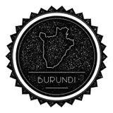 Burundi Map Label with Retro Vintage Styled. Stock Photography