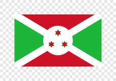 Burundi - nationsflagga vektor illustrationer