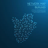 Burundi network map. Stock Images