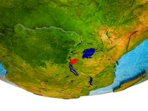 Burundi på jord 3D royaltyfri foto