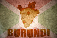 Burundi vintage map Stock Photos