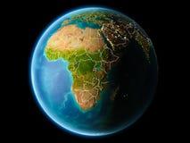 Burundi w wieczór Obrazy Royalty Free