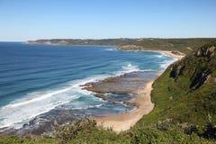 Burwood strand - Newcastle Australien royaltyfria bilder
