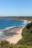 Burwood strand - Newcastle Australien arkivbild