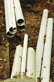 Bury communication pipes Royalty Free Stock Photography