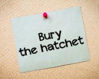 Bury the hatchet Stock Photos