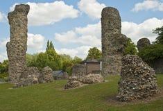 Bury st. Edmunds -Abbey Garden Ruins Stock Images