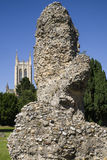 Bury St. Edmunds Abbey Remains and St Edmundsbury Cathedral Stock Photos