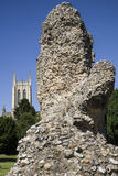 Bury St. Edmunds Abbey Remains and St Edmundsbury Cathedral Stock Images