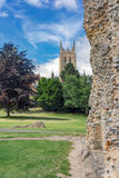 Bury St Edmunds in Suffolk. The Abbey Gardens in Bury St Edmunds, Suffolk Royalty Free Stock Image