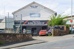 Bury Tyre Centre in Bury St Edmunds, England Royalty Free Stock Photography