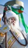 buryat人蒙古老圣诞老人白色 免版税库存照片