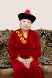 Buryat (蒙古语)资深妇女 免版税库存照片