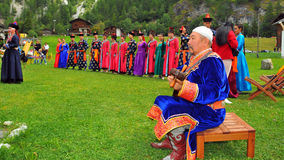 Buryat Dance Group Royalty Free Stock Photo