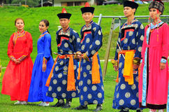 Buryat Dance Group Stock Photography