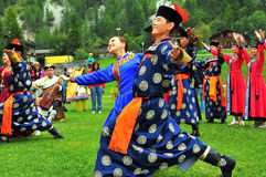 Buryat Dance Group Royalty Free Stock Image
