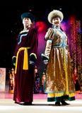 buryat kostiumów modelów mongolian Zdjęcia Royalty Free