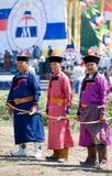 Buryat (Mongolian) archers Stock Photography