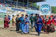 Buryat Mongolian and Russian people Royalty Free Stock Photo