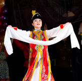 Buryat (Mongolian) woman dancer Stock Photos