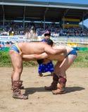 Buryat (Mongolian) wrestlers Royalty Free Stock Images