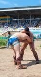 Buryat Mongolian wrestlers Stock Image