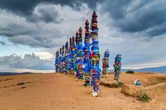 Buryat Totems. By Baikal Lake in Russia Royalty Free Stock Image