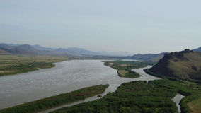 Buryatia Dolina rzeczny Selenga Obrazy Stock
