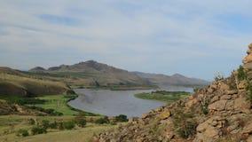 Buryatia Dolina rzeczny Selenga Zdjęcia Royalty Free