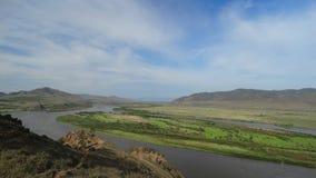 Buryatia Dolina rzeczny Selenga Fotografia Stock
