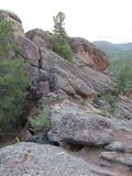 Buryatia. Forest mountains and rocks. stock photo