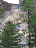 Buryatia 30-meter beeld van Boedha op een rots wordt gesneden die Stock Foto